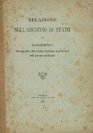 Relazione sull'archivio di Stato in Salerno.pdf - EleA@UniSA