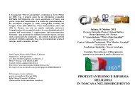 protestantesimo e riforma religiosa in toscana nel ... - Associazioni