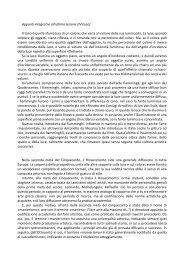 Appunti integrativi - Scuole Maestre Pie