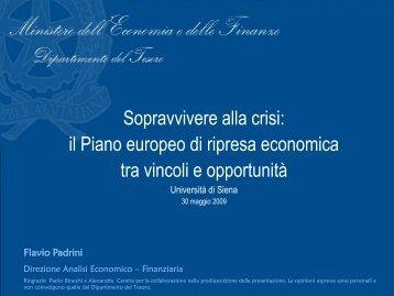 il Piano europeo di ripresa economica tra vincoli e opportunità