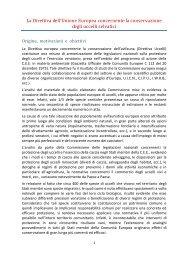 mario spagnesi:la direttiva uccelli - Federazione Italiana Della Caccia