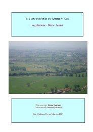 vegetazione - flora - fauna - Comune di Pisa