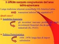Il difficile contesto congiunturale dell'area latino ... - Economia