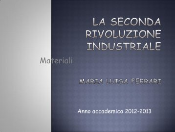 Storia del Commercio internazionale la seconda rivoluzione ...
