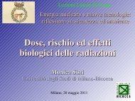 Dose, rischio ed effetti biologici delle radiazioni