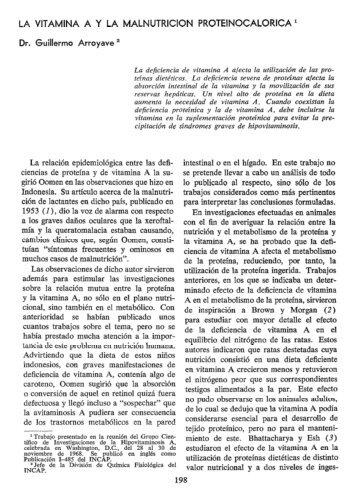 LA VITAMINA A Y LA MALNUTRICION ... - PAHO/WHO