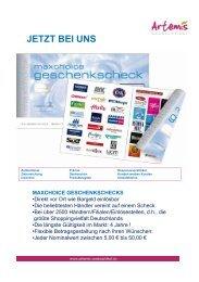 Für ipod und Co. - Artemis Werbeartikel