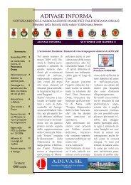 Notiziario anno I n. 2 settembre 2009-febbraio 2010 - Associazione ...