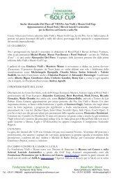 2° Comunicato (PDF) - Fondazione Vialli e Mauro