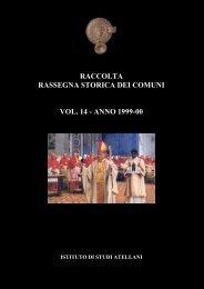 raccolta rassegna storica dei comuni vol. 14 - Istituto studi atellani