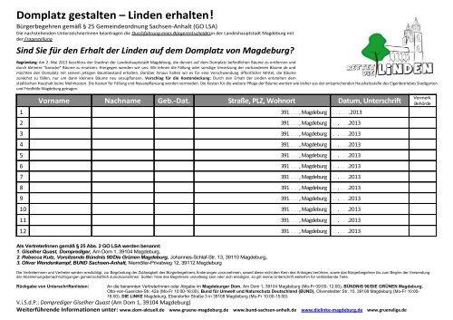 Domplatz gestalten – Linden erhalten!