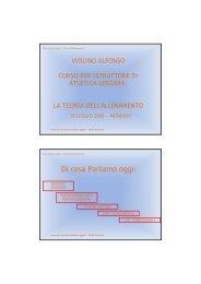 Teoria dell'allenamento - Fidal Piemonte
