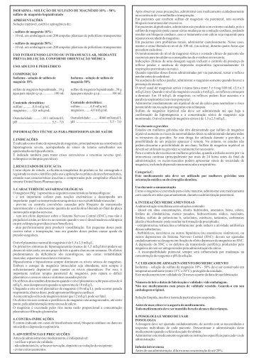 Bula - Sulfato de magnesio 10% - 50%.CDR - isofarma