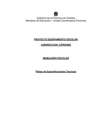 Pliego de Especificaciones Técnicas - Gobierno de la Provincia de ...