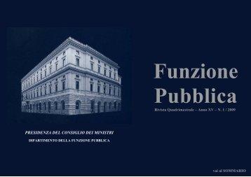 Rivista n.1 consultabile - Dipartimento Funzione Pubblica