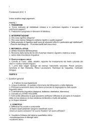 Materiali e dispense - Sapienza Università di Roma