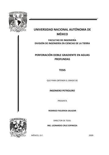 perforación doble gradiente en aguas profundas tesis - UNAM