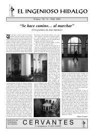 el ingenioso hidalgo - IES Cervantes - Comunidad de Madrid