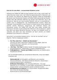 Kick fair für eine Welt – Lernwerkstatt Globales  Lernen Anlässlich ...
