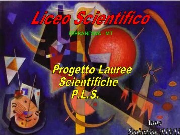FERRANDINA - MT - Lauree Scientifiche