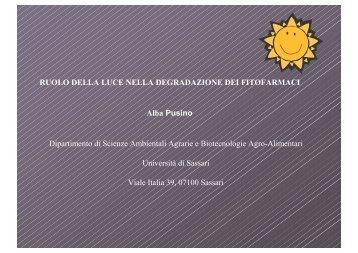 A.Pusino - Gruppo di Ricerca Italiano Fitofarmaci e Ambiente