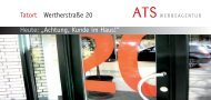 "Heute: ""Achtung, Kunde im Haus!"" Tatort ... - ATS Werbeagentur"
