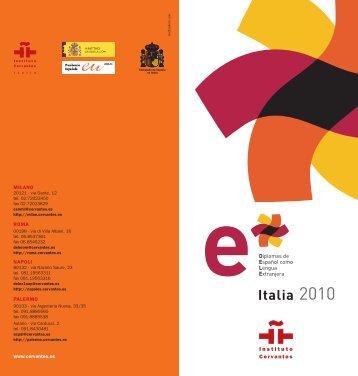 Pieghevole DELE in italiano - Instituto Cervantes