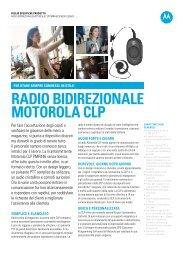 RADIO BIDIREZIONALE MOTOROLA CLP - Motorola Solutions