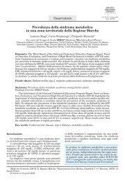 Prevalenza della sindrome metabolica in una zona territoriale della ...