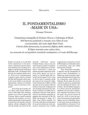 """Giuseppe Chiarante, Il fondamentalismo """"made in ... - Critica Marxista"""