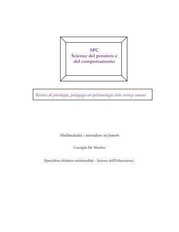 SPC Scienze del pensiero e del comportamento Rivista di ... - avios
