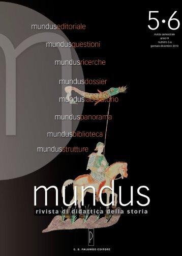 Mundus 5-6.pdf - Sapienza - Università di Roma