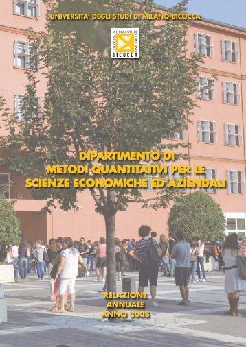 Metodi Quantitativi per le Scienze Economiche ed Aziendali