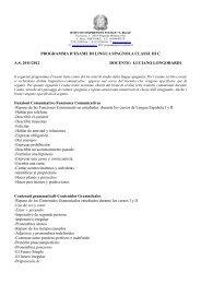 PROGRAMMA D'ESAME DI LINGUA SPAGNOLA CLASSE III C A.S. ...