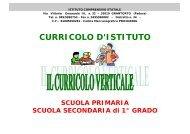 CURRICOLO D'ISTITUTO - Istituto Comprensivo di Grantorto