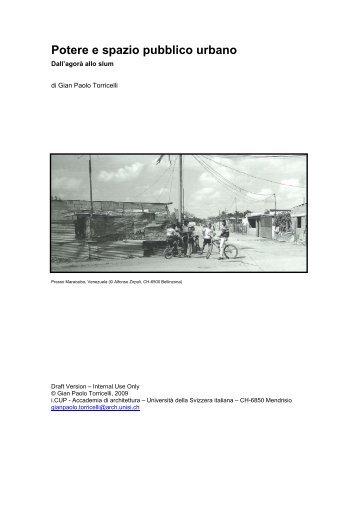 Potere e spazio pubblico urbano - Gian Paolo Torricelli