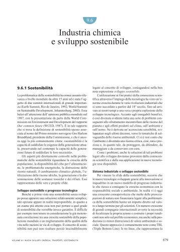 Industria chimica e sviluppo sostenibile - Treccani