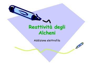 Reattività Reattivit Reattività degli Alcheni