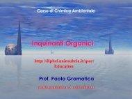 Inquin.Organici - Biologia strutturale e funzionale