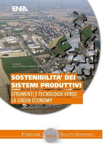Sostenibilità dei sistemi produttivi – Strumenti e tecnologie ... - Enea