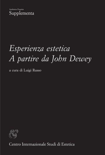 Esperienza estetica A partire da John Dewey - Università di Palermo