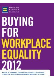 BUYING FOR WORKPLACE EQUALITY 2012