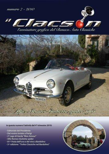 edizione n° 7 anno 2010 - Benaco Auto Classiche