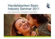 Handelsbanken Basic Industry Seminar 2011 - SCA