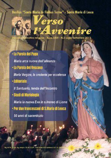 Scarica Verso L'avvenire N.3 Luglio - Basilica Santuario di Leuca