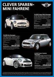 Clever sparen- mini fahren!