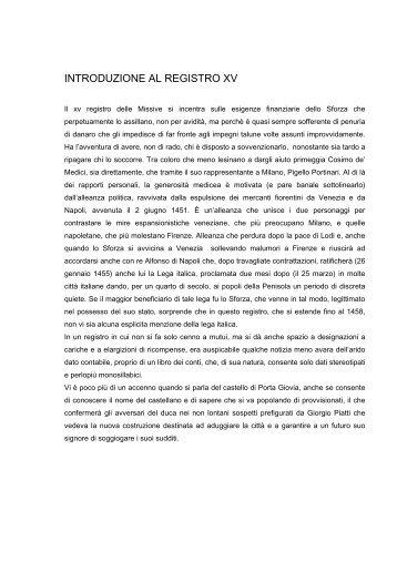 Registro missive n. 15 - Istituto Lombardo Accademia di Scienze e ...
