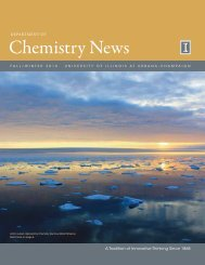 Chemistry news - Department of Chemistry - University of Illinois at ...