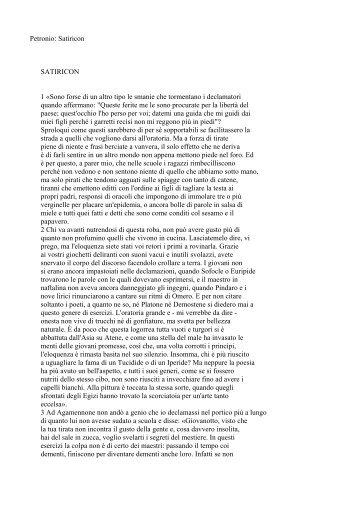 Petronio: Satiricon