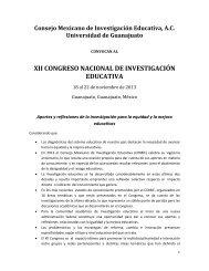 XII CONGRESO NACIONAL DE INVESTIGACIÓN EDUCATIVA